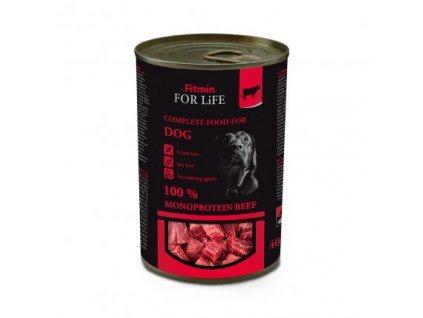 FITMIN For Life monoproteinová hovězí konzerva 400 g