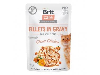 Brit care cat Fillets Gravy Choice Chicken 85 g