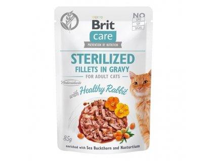 Brit Care Cat Fillets Gravy Sterilized Healthy Rabbit 85 g2