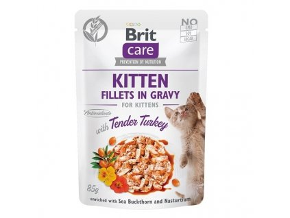 Brit Care Cat Fillets Gravy Kitten Tender Turkey 85 g