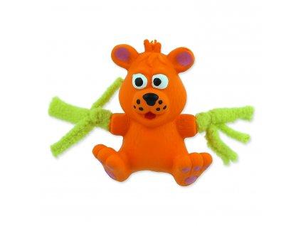 Hračka Dog Fantasy latex medvěd oranžový