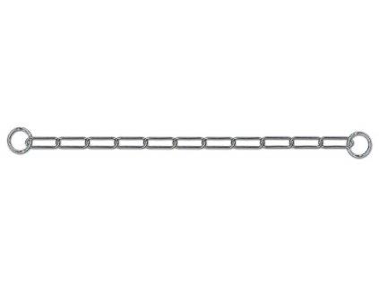 Řetízkový obojek stahovák dlouhá oka 55 cm