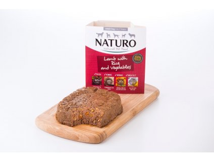 Naturo Dog Adult Lamb & Rice with Vegetables 150 g1