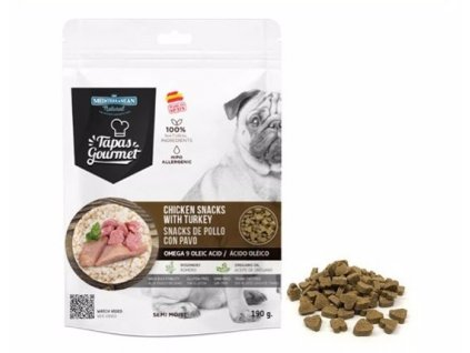 Tapas Gourmet snack for Dog Chicken and Turkey 190 g