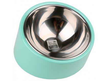 Nerezová miska Dog Fantasy Good´s Bowls zelená 0,7 l