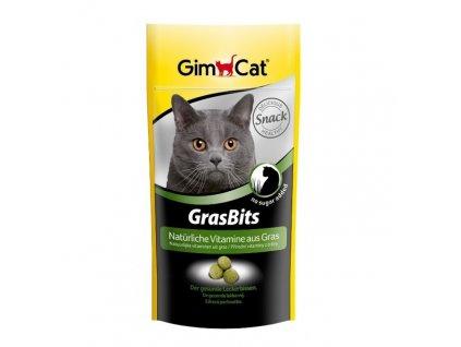 Gimcat Gras Bits tablety s kočičí trávou 40 g
