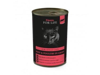 Fitmin Cat For Life konzerva Adult Beef 415 g