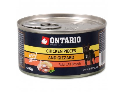 1580 ontario konzerva chicken pieces gizzard 200 g