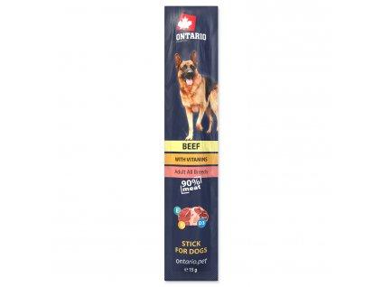 Ontario Stick hovězí salámek pro psy 15 g