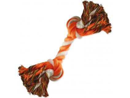 Uzel Dog Fantasy bavlněný oranžovo bílý 2 knoty 20 cm
