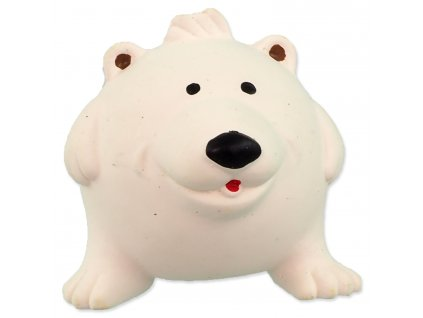 Hračka DOG FANTASY Latex Ball Animals lední medvěd