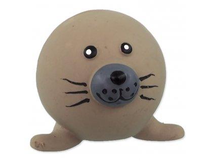 Hračka DOG FANTASY Latex Ball Animals lachtan