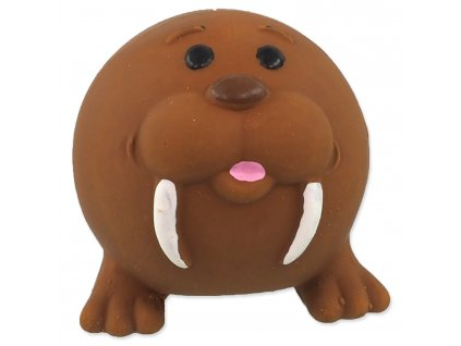 Hračka DOG FANTASY Latex Ball Animals mrož