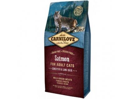 Carnilove Cat Salmon for Adult Sensitive & Long Hair 6 kg