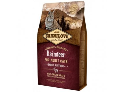 Carnilove Cat Reindeer for Adult Energy & Outdoor 2 kg