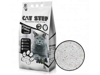 Cat Step Compact White Carbon 5 l