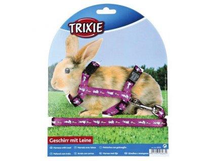Nylonový postroj s vodítkem na králíka motiv 25 44