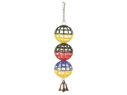 Trixie Tři koule se zvonečkem 16 cm
