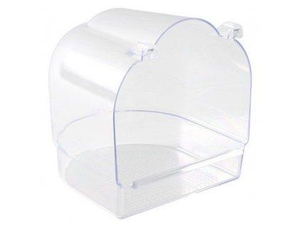 Trixie Koupelna půlkruhová, celoprůsvitná 13x15x14cm