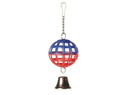 Trixie závěsná koule na řetízku se zvonečkem 7 cm