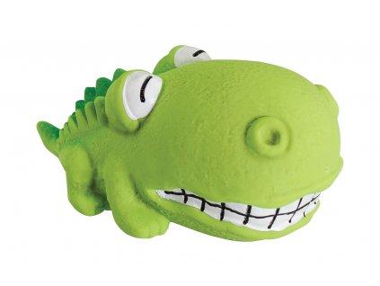 Hip Hop latexový mini krokodýl BigHead se zvukem 9 cm
