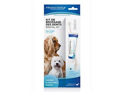Francodex Dental Kit zubní pasta 70g+kartáček pes