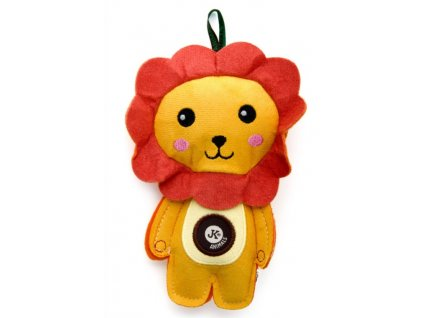 Lev pískací hračka z pevné textilní látky 19 cm