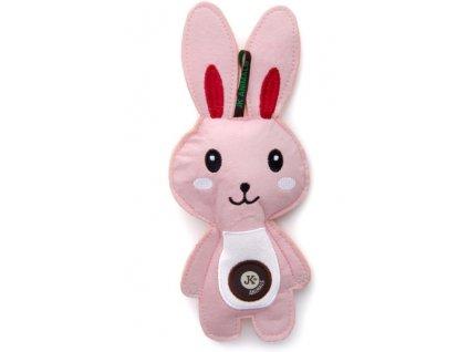 Zajíc pískací hračka z pevné textilní látky 24 cm