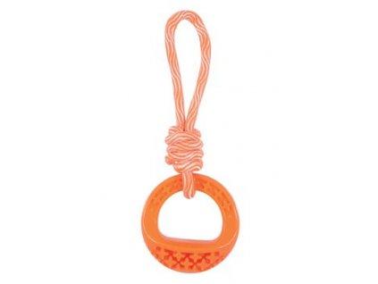 17111 hracka pes tpr samba krouzek s lanem oranzova zolux