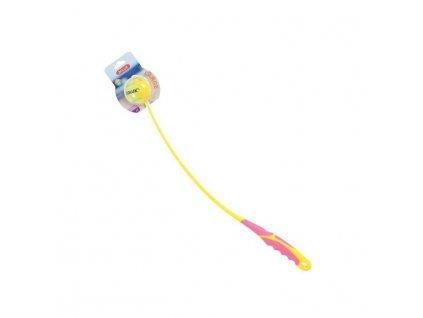 Hračka pes SUNSET házeč míčků L 68cm růžová Zolux1