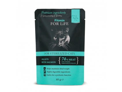 Kapsička Fitmin Cat For Life Sterilised Salmon 85 g1
