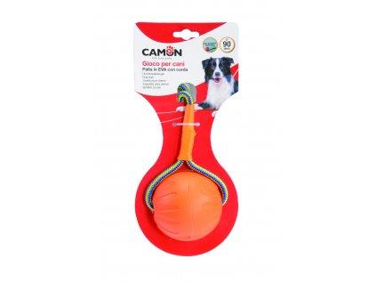 Oranžový plovoucí míček s lanem 9 cm