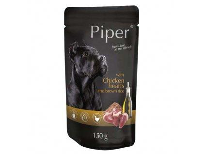 Piper kapsička s kuřecími srdíčky a hnědou rýží 150 g