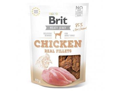 Brit pamlsky Jerky Chicken Fillets 80 g