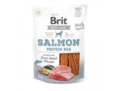 Brit pamlsky Jerky Salmon Protein Bar 80 g