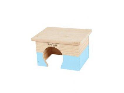 17927 domek pro hlodavce home color s modry zolux
