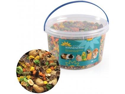 Sonnenland Nutty krmivo pro hlodavce, kbelík 1,11 kg