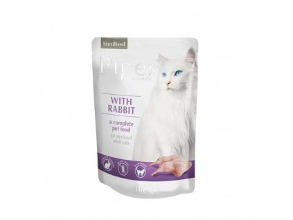 Kapsička pro kočky Piper rabbit sterilised 100 g