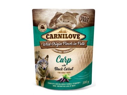 18251 carnilove dog pouch pate carp with black carrot 300 g