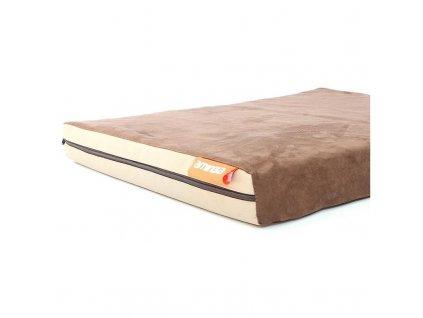 Matrace Aminela - 100x100x5cm Travel hnědá/béžová  + ke každé objednávce náš HAF bag
