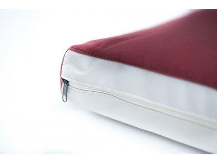 18407 1 potah na matraci aminela 120x80x10cm half and half cervena svetle seda