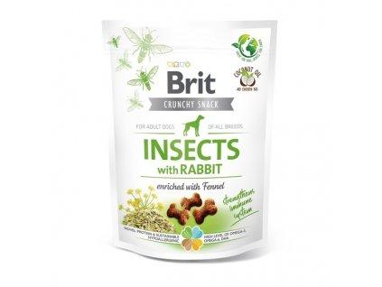 Funkční pamlsky Brit Care Dog Insects with Rabbit & Fennel 200 g