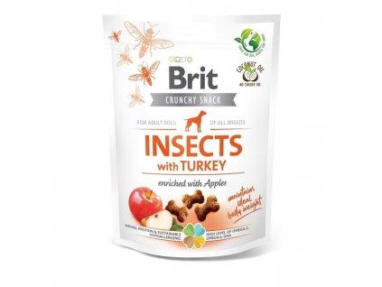 Funkční pamlsky Brit Care Dog Insects with Turkey & Apples 200 g