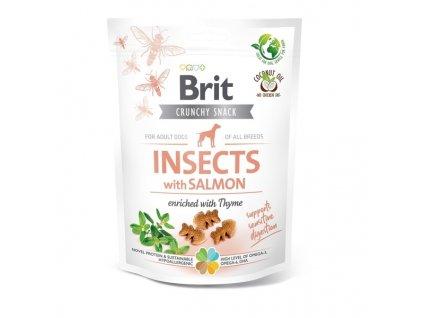 Funkční pamlsky Brit Care Dog Insects with Salmon & Thyme 200 g