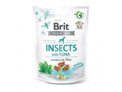 Funkční pamlsky Brit Care Dog Insects with Tuna & Mint 200 g