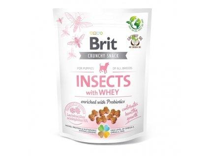 Funkční pamlsky Brit Care Dog Puppy Insects with Whey & Probiotics 200 g