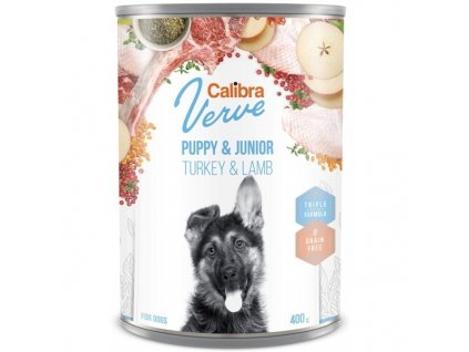 Calibra Dog Verve konzerva GF Junior Turkey & Lamb 400 g
