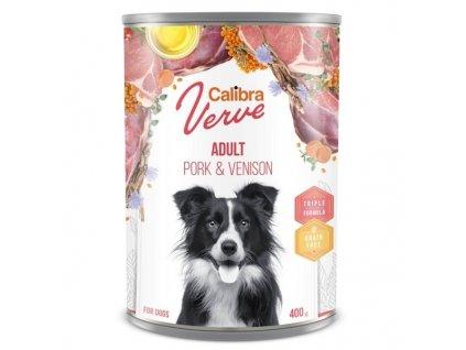 Calibra Dog Verve konzerva GF Adult Pork & Venison 400 g