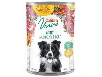 Calibra Dog Verve konzerva GF Adult Wild Boar & Beef 400 g