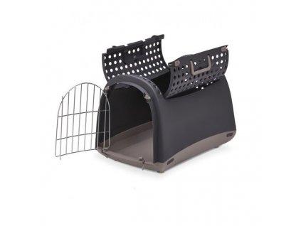 IMAC Přepravka pro kočky a psy Cabrio Antracitová